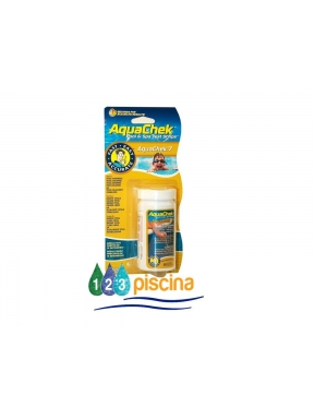 Tiras aquachek 7 (cl LL -cl T -pH -TU -TH -AC) 100 tiras