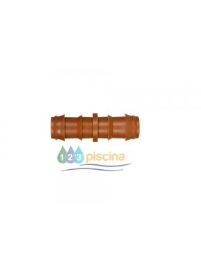 Enlace recto Ø16 mm para tubo goteo marrón Cepex