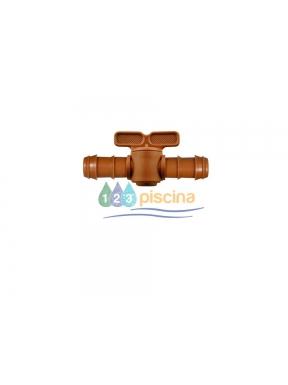 Válvula Ø16 mm para tubo goteo marrón Cepex