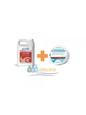 Pack nº3: Invernador Iverliner para electrolisis de sal + Pastilla de tricloro de 500g