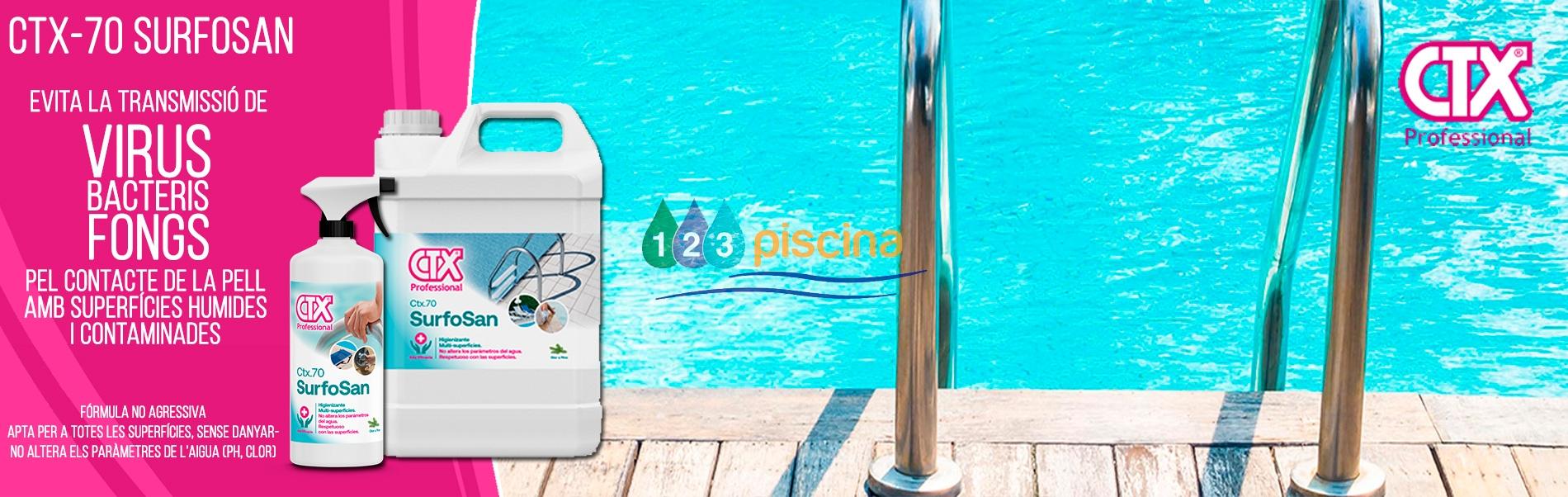 Higienitzant Surfosan CTX-70 - Piscina neta de virus, bacteris i fongs